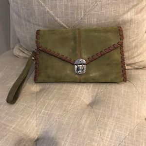 NWOT Sydney Love Olive Laced Clutch